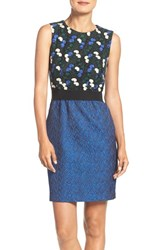 Taylor Dresses Women's Embroidered Lace And Jacquard Sheath Dress