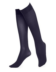 Hue Soft Opaque Knee High Socks Navy
