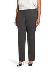 Halogenr Plus Size Women's Halogen Ministripe Stretch Straight Leg Suit Pants