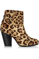 Rag And Bone Newbury Leopard Print Calf Hair Ankle Boots Animal Print
