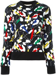 Etre Cecile Abstract Print Sweatshirt Black