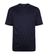 Z Zegna Quilted T Shirt Male Navy