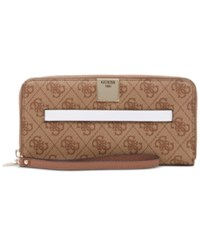 Guess Christy Large Zip Around Wallet Brown