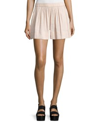 Vince Linen Blend Pull On Shorts Rose Water