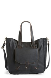 Big Buddha Faux Leather Tote Black