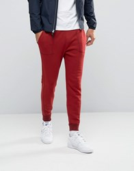 Abercrombie And Fitch Cuffed Joggers Moose Logo Embroidery In Red Red