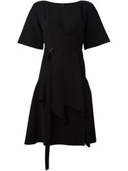 Jil Sander Navy Boat Neck Dress Black