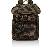 Valentino Men's Flap Front Backpack Green