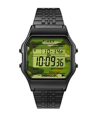 Mens Originals Timex 80 Resin Bracelet Watch Green