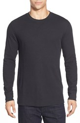 Men's Big And Tall Nordstrom Waffle Knit Long Sleeve T Shirt Black