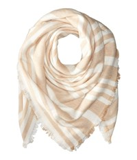 Bcbgeneration Striped Square Scarf Sienna Scarves Brown