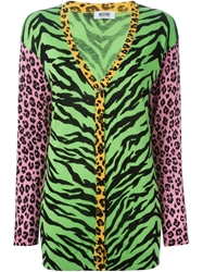 Moschino Cheap And Chic Mixed Animal Print Cardigan