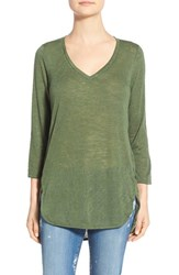 Women's Gibson V Neck Knit Tunic Forest