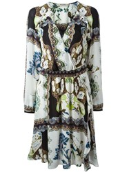 Etro Paisley Print Peasant Dress White