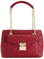Love Moschino Medium Quilted Shoulder Bag Red