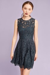 Anthropologie Josette Lace Dress Turquoise