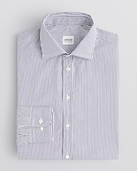 Armani Collezioni Pencil Stripe Dress Shirt Regular Fit