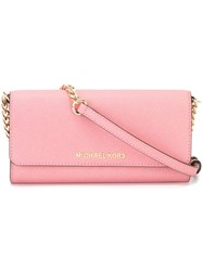 Michael Michael Kors 'Jet Set Travel' Chain Cross Body Bag Pink And Purple