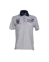 Paul And Shark Topwear Polo Shirts Men Light Grey