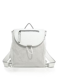 Urban Originals Olivia Perforated Faux Leather Backpack White