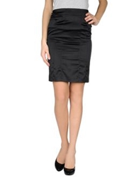 Just Cavalli Knee Length Skirts Black