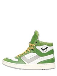 Pony City Wings Basket Ball Leather Sneakers