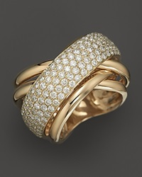 Bloomingdale's Pave Diamond Ring In 14K Yellow Gold 2.25 Ct. T.W. No Color
