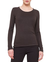 Akris Cashmere Blend Long Sleeve Top Size 12 Cypress