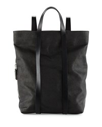Cnc Costume National Grained Leather Backpack Black Costume National