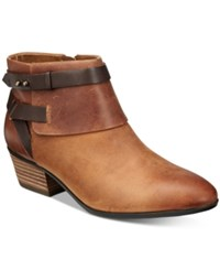 Clarks Collection Women's Spye Comet Booties Women's Shoes Tan Leather