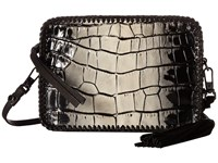 Botkier Quincy Mini Crossbody Black White Croc Cross Body Handbags