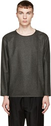 Lemaire Grey Wool Flannel Top
