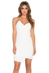Lumier Modern Mini Malist Bustier Dress White