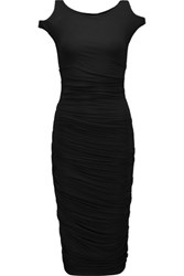 Bailey 44 Ruched Stretch Jersey Dress Black