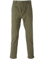 Love Moschino Fitted Chino Trousers Green