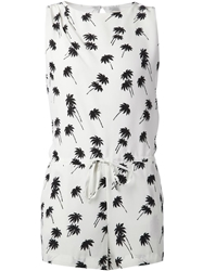 Band Of Outsiders Palm Tree Playsuit White
