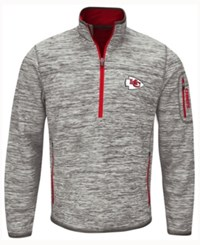 G3 Sports Men's Kansas City Chiefs Fast Pace Quarter Zip Pullover Gray Red