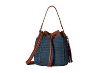 The Sak Ukiah Crochet Drawstring Vintage Blue Drawstring Handbags
