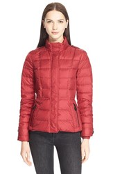 Women's Burberry Brit 'Dalebury' Down Jacket Dark Crimson