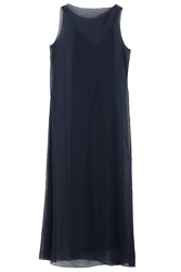 The Row Anmar Chiffon Overlay Dress