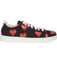 Comme Des Garcons Converse Cons Low Top Trainers Black Heart