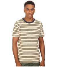 Brixton Hilt Short Sleeve Pocket Knit Tan Bronze Men's Short Sleeve Pullover Brown
