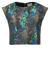 Louche Jamais Blouse Black Blue Multicoloured
