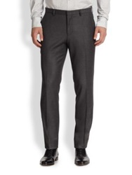 J. Lindeberg Virgin Wool Dress Pants Dark Grey