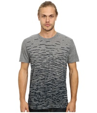 Alternative Apparel Eco Crew Eco Grey Ripples Men's Short Sleeve Pullover Gray