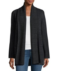 Vince Open Front Car Coat Sweater Charcoal D