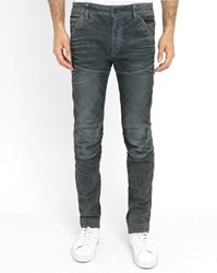 G Star Grey 3D Elwood 5620 Waxed Slim Fit Jeans