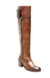 Women's Blondo 'Kamikaze' Waterproof Knee High Boot Cognac Leather