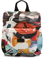 Paul Smith Geometric Print Zip Up Backpack Multicolour