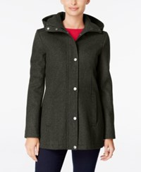 Tommy Hilfiger Hooded Peacoat Only At Macy's Heather Olive